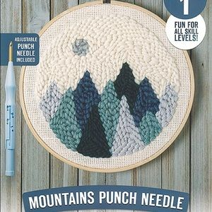 Punch Needle Mountains Kit - Easy